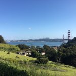 View from hill behind Cavallo Point