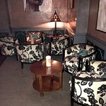 cute seating in bar area