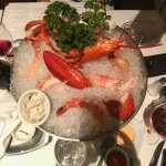 Half of Seafood Tower at Ruth's Chris