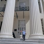 Columns (and grandson) up closer