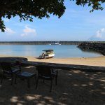 Private beach with view to Manado Tua Island