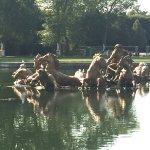 Breathtaking sculpture of Apollo riding his chariot.