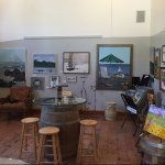 Vivid art pieces created by local artists linethe walls of the many rooms and hallways.