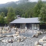 Hot springs pools, sauna, steam room at maria hot springs