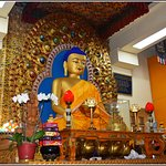 Idol of the lord Buddha inside the temple.