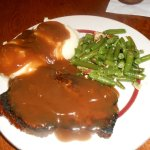 meatloaf and mash w/green beans
