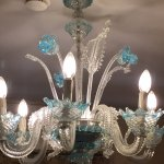 Murano hand blown glass chandelier
