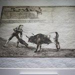 Lámina de Goya sobre la tauromaquia