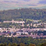 See the Hotel at top of Crieff and easy walk to walk top of Knock Hill.