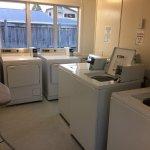 Communal laundry area