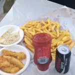Fish and chips! (battered gurnard and grilled dory)