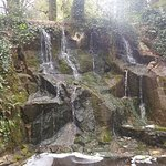 One of two waterfalls hiding in the gardens