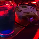 Cocktails while playing on the Dreamcast, good times!