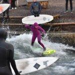 Christmas surfing