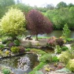 Left side of Garden, Pond and River Towy