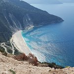 just from last visit .The photo is taken from the new bridge above Myrtos