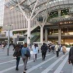 people walking towards Hakata Station and Hakata City