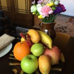 Welcome flowers and fruit
