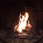 Our roaring open fire
