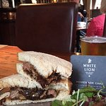 A packed steak sandwich - fabulous