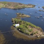 Aerial photo of Dry Island