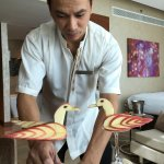Roy Gonzales work of art at Fairmont Bab Al Bahr Abu Dhabi