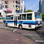 なつかしい形のバス達が現役で活躍中