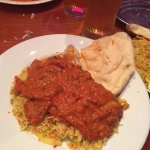 Lamb curry with egg rice