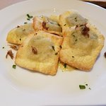 Fried artichoke ravioli with aioli. (Monday Night Supper Club)