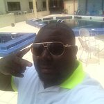 hot sunny day...chilling by the pool