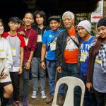 Young and old artists during the Taw-Awan International Arts Festival.