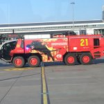 Cool fire engine at the local airport.