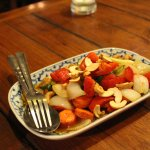 fried cashew nuts with chicken
