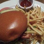 Angus burger, garlic fries & homemade ketchup