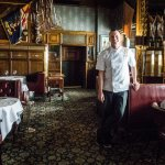 The extremely talented Executive Chef Garrett Kasper in the Palace Arms restaurant.