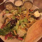 Chicken tortilla soup, French dip, salad