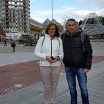 Στο κέντρο του Rotterdam με φόντο τα Kijk -Kubus