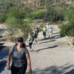 Group hike Sabino Canyon