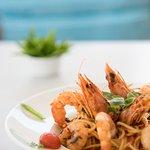 Shrimp Spaghetti!  Γαριδομακαρονάδα!