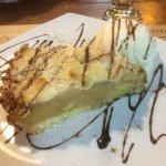 tarta tibia de manzana con helado