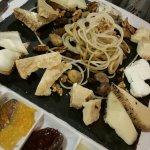 Torta rustica e tagliere di formaggi...impareggiabile e formaggi selezionatissimi!