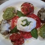 Bruschetta with burrata - so yummy!