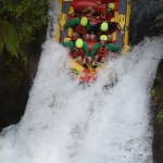 Going down the 7m Waterfall