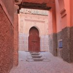 Narrow street, where the Riad is located