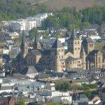 Blick vom Zimmer auf den Dom von Trier