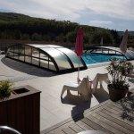 Chambre triple avec terrasse côté piscine