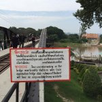 Sign at the Bridge Over the River Kwai