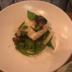 Monkfish. That bed of peas and herbs was incredible