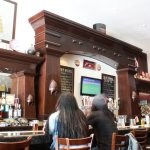 The bar at Beerhive Pub