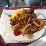 Chili dog and fries
